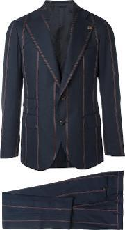 Gabriele Pasini , Two Piece Striped Suit Men Polyesterviscosewool 50