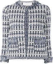 Giada Benincasa , Patterned Open Front Jacket Women Cottonpolyesterviscose S