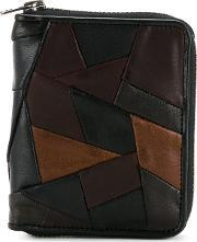 Anrealage , Porter Patchwork Wallet Men Calf Leatherhorse Leathersheep Skinshearling One Size