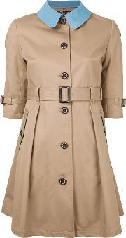 Guild Prime , Buttoned Belted Trench Women Cotton 36, Women's, Brown