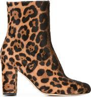 Brian Atwood , 'talise' Boots Women Leatherpony Fur 38.5, Women's, Brown