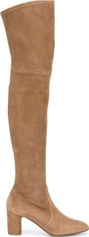 Casadei , Over The Knee Boots Women Leathersuede 36, Women's, Brown