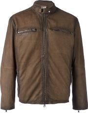 Damico , D'amico Zip Pocket Jacket Men Cottonleatherpolyester 50, Brown