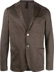 Harris Wharf London , Notched Lapel Blazer Men Cottonlinenflax 48, Brown