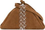 Isa Arfen , Chain Detail Crossbody Bag Women Suede One Size, Women's, Brown