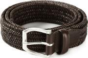 Orciani , Woven Buckled Belt Men Leather 85, Brown