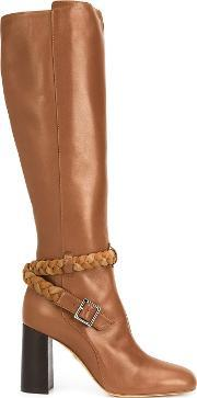 Ritch Erani Nyfc , Braided Detail Knee Length Boots Women Leathersuede 38.5
