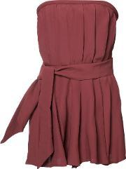 Cmeo , Cmeo Strapless Playsuit Women Polyesterviscose Xs