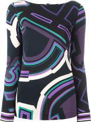 Emilio Pucci , Abstract Print Top