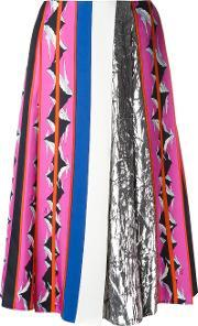 Emilio Pucci , Patterned Pleated Mid Length Skirt