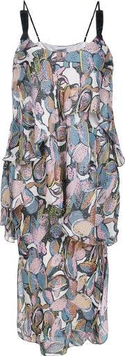 Maiyet , 'wave Tier Slip' Dress Women Silk 6, Women's