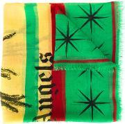 Palm Angels , 'rastafari Skull' Scarf Men Cashmerepashminamodal One Size