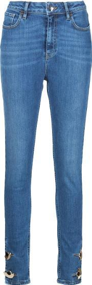 Anthony Vaccarello , Skinny Button Ankle Jeans Women Cottonspandexelastane 28