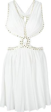 Jay Ahr , Studded Cut Out Dress Women Rayonmetal Other 34, Women's, White