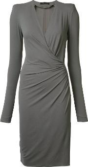Alexandre Vauthier , Wrap Effect Dress Women Spandexelastaneviscose 36, Women's, Grey
