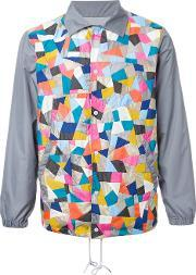 Anrealage , 'patchwork Coach' Jacket Men Nylon 12polyester 48, Grey