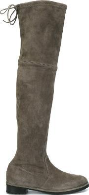 Baldinini , Over The Knee Boots Women Leathercalf Suederubber 38.5