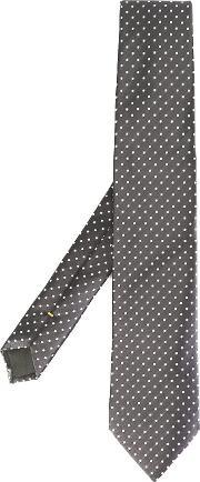 Canali , Dotted Pattern Tie Men Silk One Size