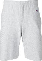 Champion , Embroidered Logo Track Shorts Men Cottonpolyester L, Grey