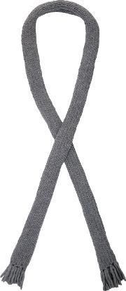 Christopher Raeburn , Oversized Hand Knit Scarf Men Wool One Size, Grey