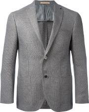 Corneliani , Two Button Blazer Men Linenflaxcuproviscose 48, Grey