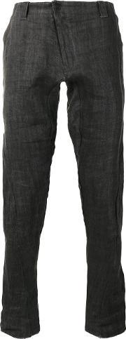 Devoa , Slim Fit Jeans Men Linenflaxpolyester 2