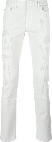 Dior Homme , Ripped Tapered Jeans Men Cottonspandexelastane 31