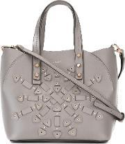 Furla , Aurora Small Tote Women Leathermetal One Size, Women's, Grey