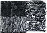 Ilaria Nistri , Fringed Striped Scarf Women Silkpolyamidemohairmerino One Size