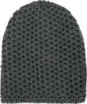 Inverni , Chunky Wool Knit Beanie Women Cashmere One Size, Women's, Grey