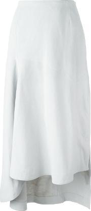 Martine Jarlgaard , Asymmetric Skirt Women Lamb Skinviscose 8, Women's, Grey