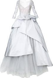 Mikael D , . Longsleeved Ball Gown