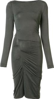 Nicole Miller , Gathered Fitted Dress Women Spandexelastanecupro L
