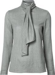 Vanessa Seward , Scarf Detail Blouse Women Wool 34, Women's, Grey
