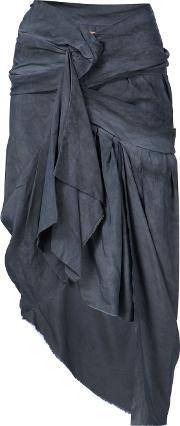 Vivienne Westwood Gold Label , Draped Asymmetric Skirt Women Silkviscose 6, Women's, Grey