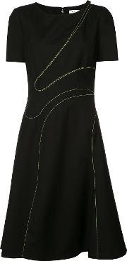 Mugler , Stitched Cut Out Dress