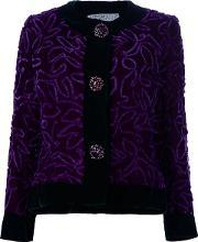 Givenchy Vintage , Embroidered Jacket Women Silk 42, Women's, Pinkpurple