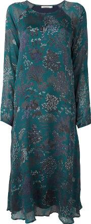 Mes Demoiselles , Floral Print Midi Dress Women Silk 40, Women's, Green