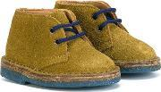Pepe , Lace Up Desert Boots Kids Leathercalf Suederubber 23, Boy's, Green