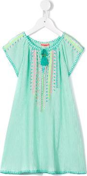 Sunuva , Embroidered Cheesecloth Dress Kids Cotton 5 Yrs