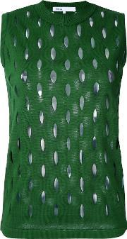 08sircus , Perforated Detail Sleeveless Top