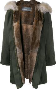 Army Yves Salomon , Rabbit And Coyote Fur Lined Parka