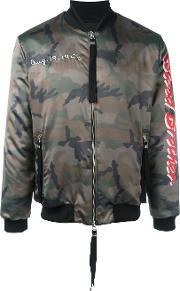 Blood Brother , Loyal Bomber Jacket Men Cottonpolyesterspandexelastane S, Green