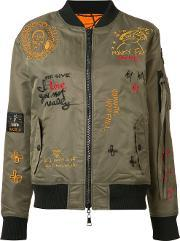 Haculla , Reversible Embroidered Bomber Jacket