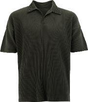 Homme Plisse Issey Miyake , Pleated Polo Shirt Men Polyester 2