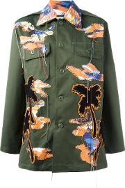 Night Market , Bird Patches Military Jacket Women Cottonpolyester One Size