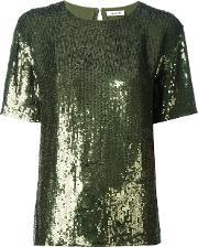 Parosh , P.a.r.o.s.h. Short Sleeved Sequinned Top
