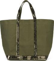 Vanessa Bruno , Sequin Embellished Tote Women Cottonpolyester One Size, Women's, Green