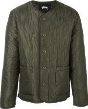 Stussy , Quilted Military Jacket Men Nylonpolyester L, Green