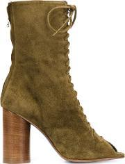 Valas , Peep Toe Lace Up Boots
